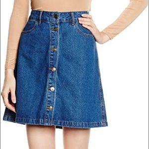 3/$50 ONLY Farrah Denim Skirt